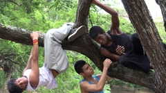 Teen Boys Childhood Friends Stock Footage