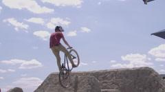 Extreme Sport BMX Mountain Biking Tailwhip Stock Footage