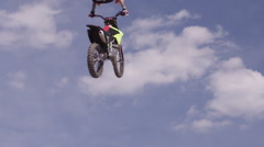 Action Sport Freestyle Motocross - FMX heel clicker Stock Footage
