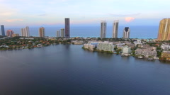 AErial tour Sunny Isles Beach Florida Stock Footage