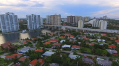 Aerial tour Sunny Isles and Aventura - stock footage