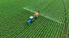 Spraying Potato Fields With Herbicides.The Protection Of Plants  Stock Footage