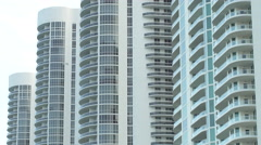 Modern condominiums in Sunny Isles Beach FL Stock Footage