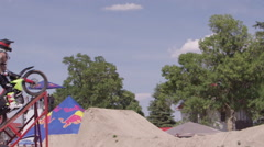Slow motion  Freestyle Motocross - FMX Stock Footage