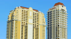 Video of Aqualina Sunny Isles on a blue sky Stock Footage