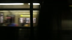 Abstract Cinematic Motion of Subway in New York Stock Video Stock Footage