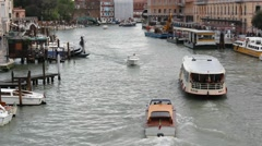 Venice, Italy. Boats cruising on the Canal Grande in Venice. - stock footage