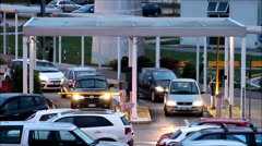 Close view of parking lot at Airport San Marco Stock Footage