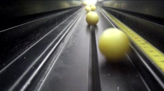 Aluminum road with plastic ball Stock Footage