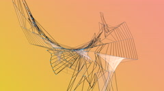 Animated shapes and lines Stock Footage