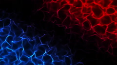 Energy Flames Frame Seamless Motion Background HD Blue Red Stock Footage