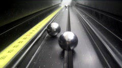 Balls falling from the sky - stock footage