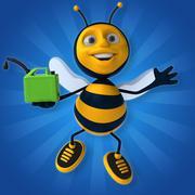 Fun bee Stock Illustration