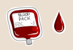 Blood Pack - stock illustration
