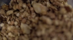 Heap of muesli - stock footage