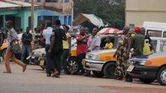 Africa Ghana Kumawu taxi drivers 4K Stock Footage