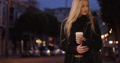 Man sends beautiful blond date to wrong address on purpose Stock Footage