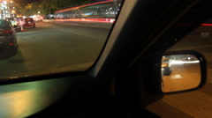 4K Timelapse Roads in the evening view from the passenger cars. Stock Footage