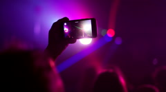 Crowd making party at a rock concert. Stock Footage