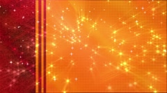 Wedding Motion Loopable Background 051,orange red BG stars Stock Footage