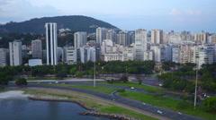 Aerial Botafogo Flamengo beach area Rio de Janeiro Stock Footage