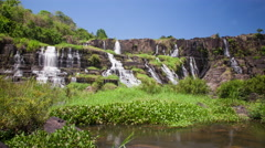 Beautiful waterfall Vietnamese Pongour Stock Footage