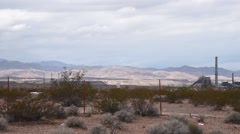Power plant in the desert Stock Footage