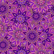 Seamless pattern. Vintage decorative elements. Hand drawn background. Islam Stock Illustration