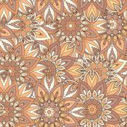 Seamless pattern. Vintage decorative elements. Hand drawn background. Islam,  Stock Illustration