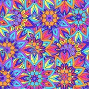Seamless pattern. Vintage decorative elements. Hand drawn background. Islam,  - stock illustration