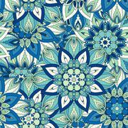 Seamless pattern. Vintage decorative elements. Hand drawn background. Islam,  Stock Illustration