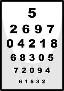 Number chart used for ophthalmologist Stock Illustration