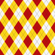 Seamless argyle pattern. Diamond shapes background. Stock Illustration