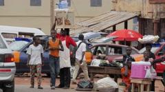 Africa Ghana Kumawu woman head shop 4K Stock Footage