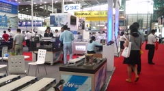 International industrial automation exhibition Stock Footage