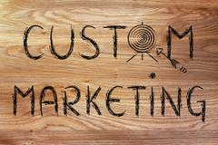 Business: define your target with custom marketing Stock Illustration