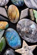 Semi Precious Rock Stone Jewel Stock Photos