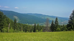 Mountains in Carpathians Stock Footage