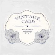 Elegant wedding invitation design, Greeting Card, banner. frame with hibiscus - stock illustration