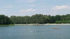 Lake in a farmstead Kuskovo Stock Footage