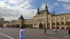 GUM. Moscow Main Department Store. Red Square. 4K. Stock Footage