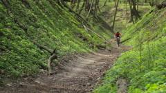 KIEV, UKRAINE - APRIL 21, 2016: Competition mountain bike - stock footage