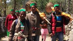 Hindu People Kalpa Holiday Stock Footage
