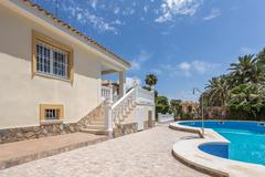 Orihuela, Spain- June 03, 2016: Apartments for tourists near the sea in Spain Stock Photos