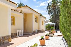 Orihuela, Spain- June 03, 2016: Apartments for tourists near the sea in Spain - stock photo