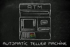 Automatic teller machine illustration Piirros