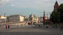 Big Moskvoretsky bridge. Moscow. 4K. Stock Footage