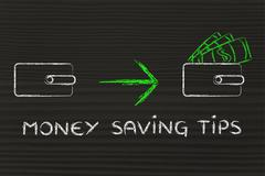 money saving tips - stock illustration