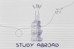 Education: studying abroad Stock Illustration