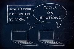 how to make my content go viral? focus on emotions - stock illustration